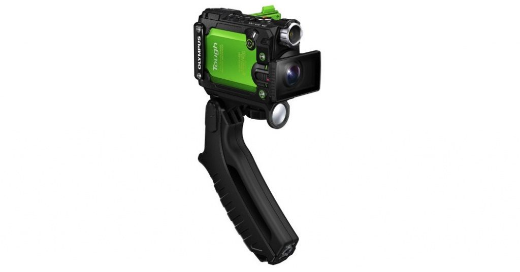 The Steady Grip is included with the Olympus Tough TG-Tracker.
