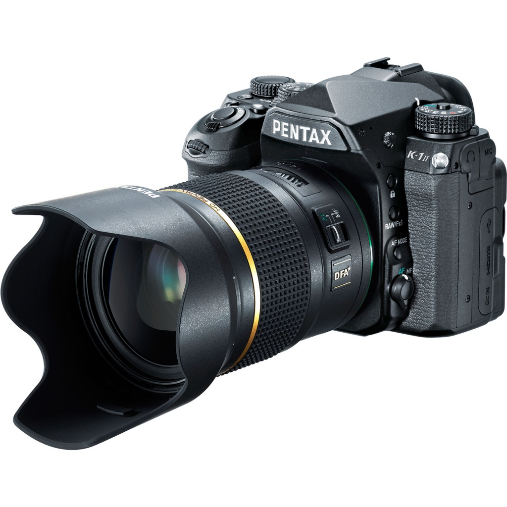 The HD Pentax-D FA* 50mm f/1.4 SDM AW can be mounted to any of Pentax's recent DSLRs.
