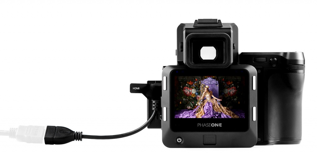 The Phase One XF 100MP can be tethered to a computer.