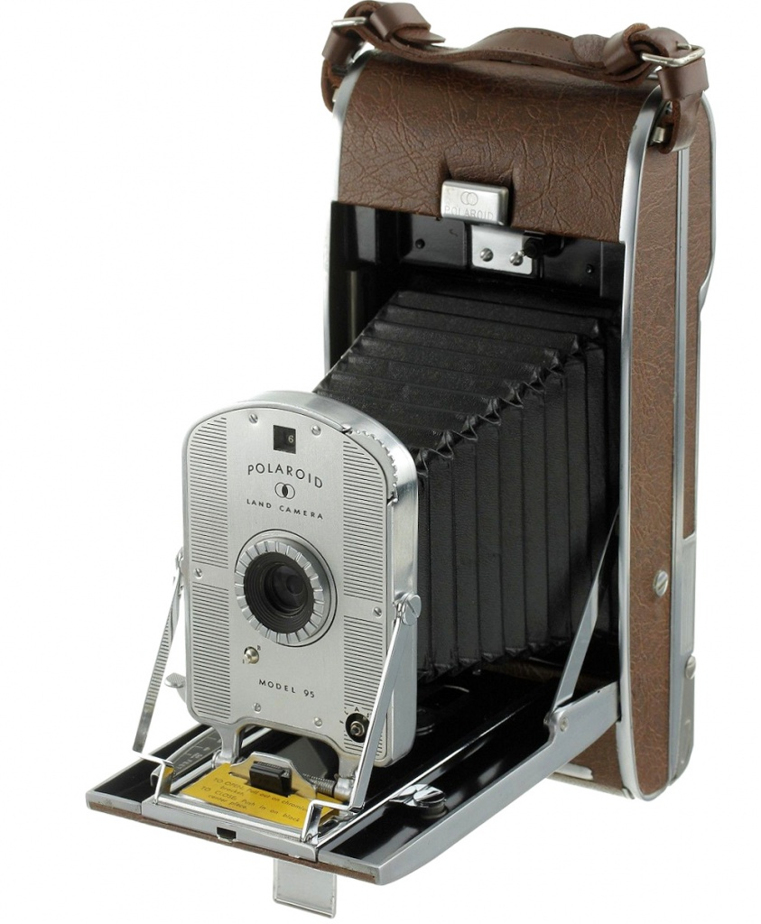 The first Polaroid Model 95 arrived in 1948.