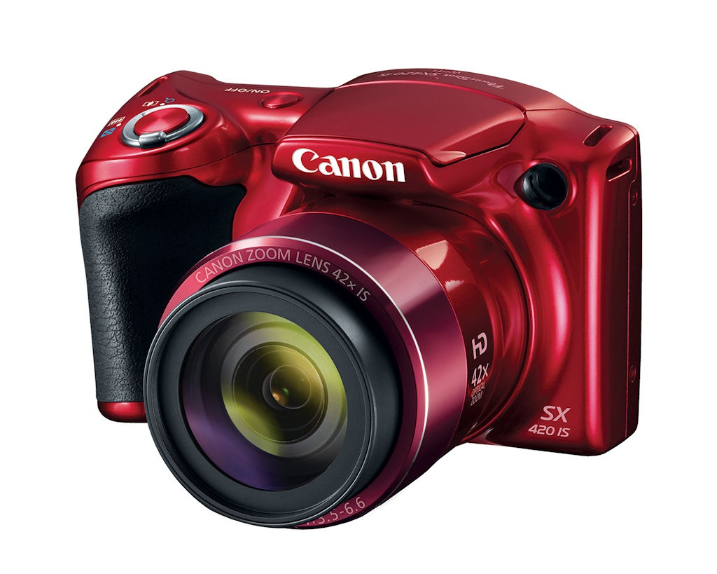 PowerShot SX420 IS in red.
