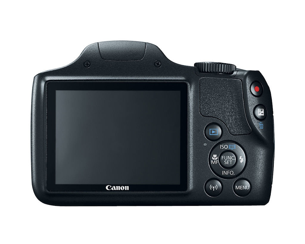 Rear of the PowerShot SX540 HS.