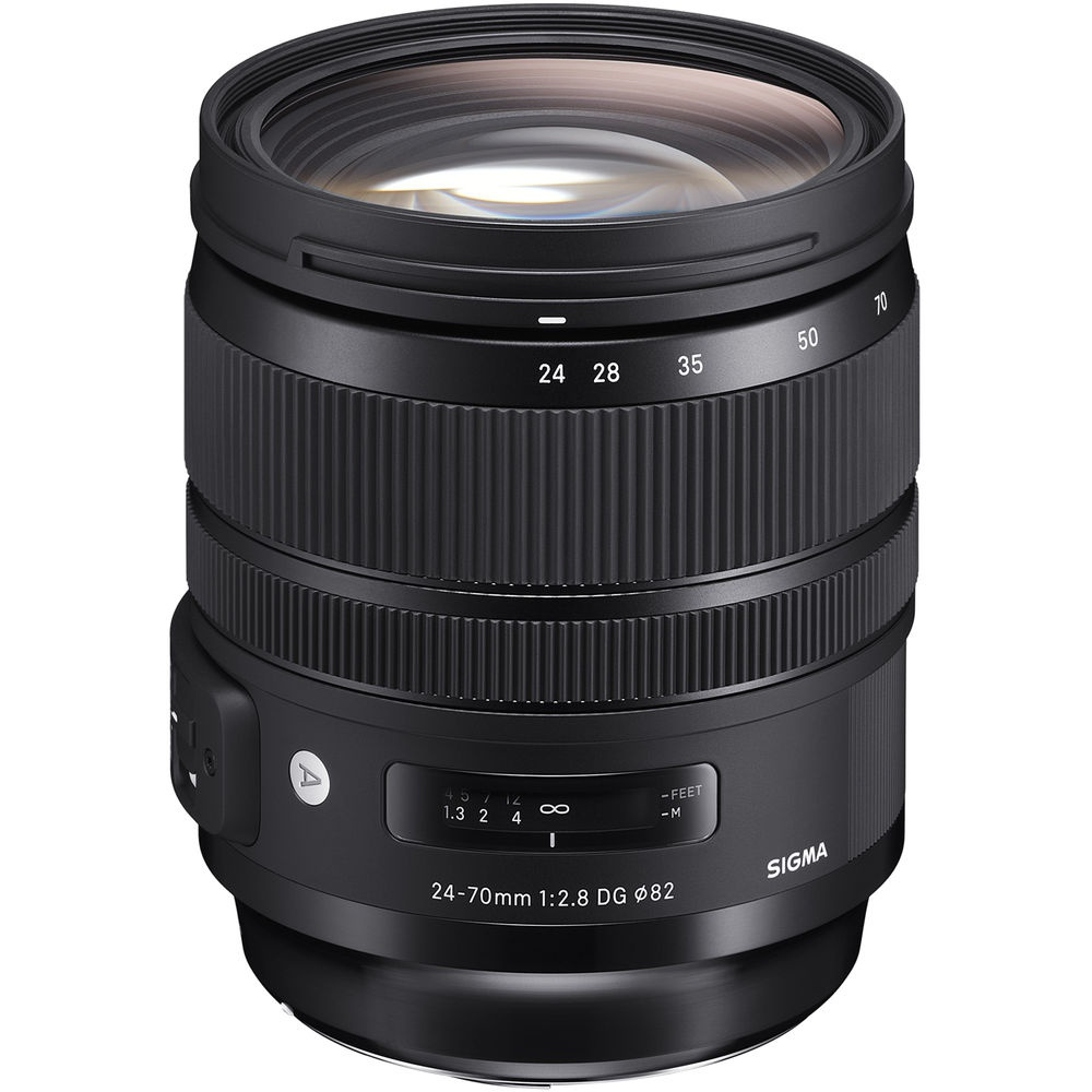 The Sigma 24-70mm f/2.8 DG HSM OS Art is a constant aperture zoom.