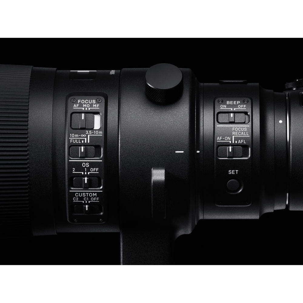 The Sigma 500mm f/4.0 DG OS HSM has two types of image stabilization.
