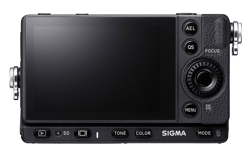 The rear of the Sigma fp includes the 3.15-inch touch-enabled LCD monitor and a handful of controls.