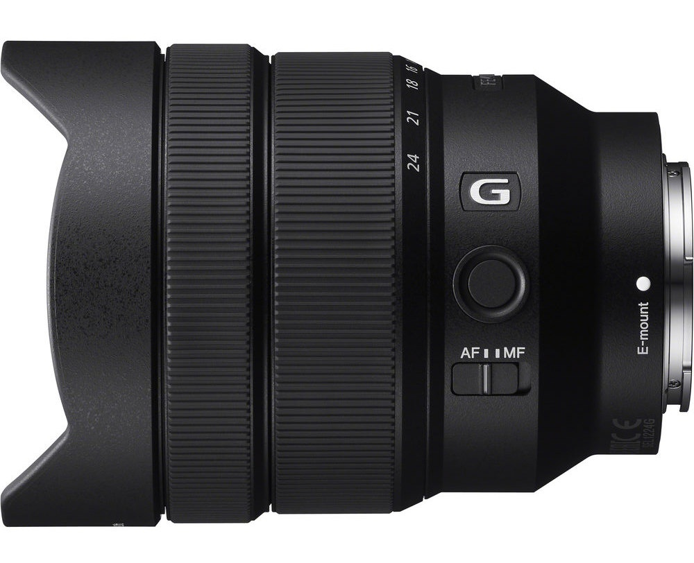 The Sony G 12-24mm offers automatic and manual focus.