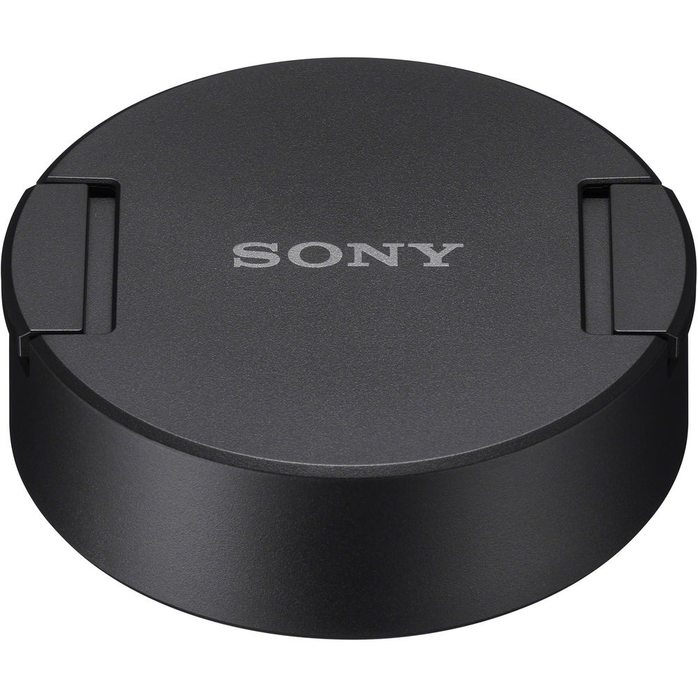 The lens cap for the Sony G 12-24mm covers the lens shade.