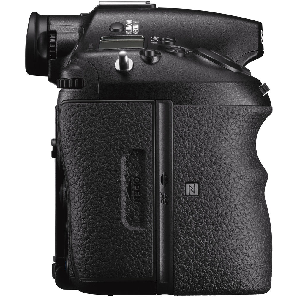 The grip side of the Sony A99 II has no ports.