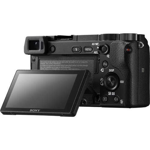 The tilting 3.0-inch LCD of the Sony a6300.