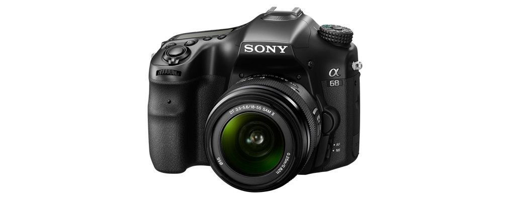 The Sony A68 - another view with its kit 18-55mm lens