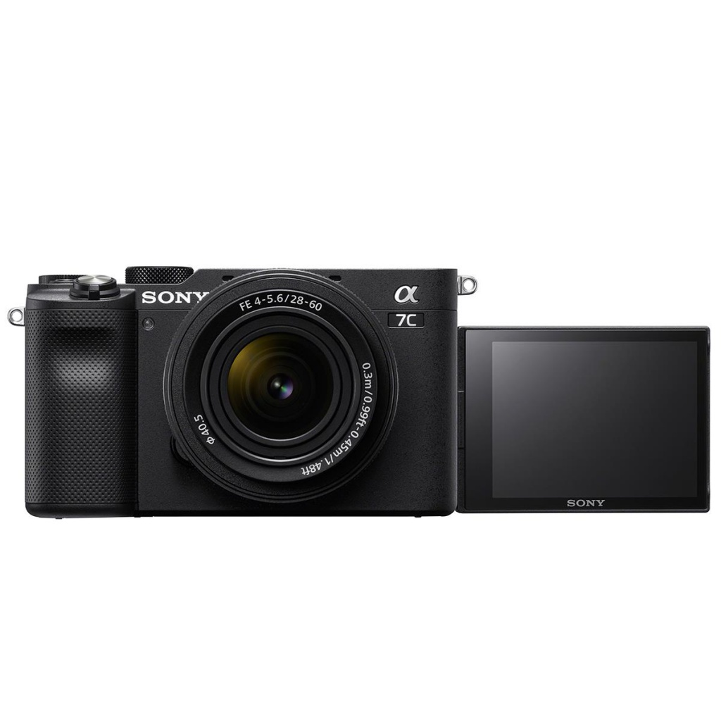 The Sony Alpha 7C's LCF panel swings out and rotates.