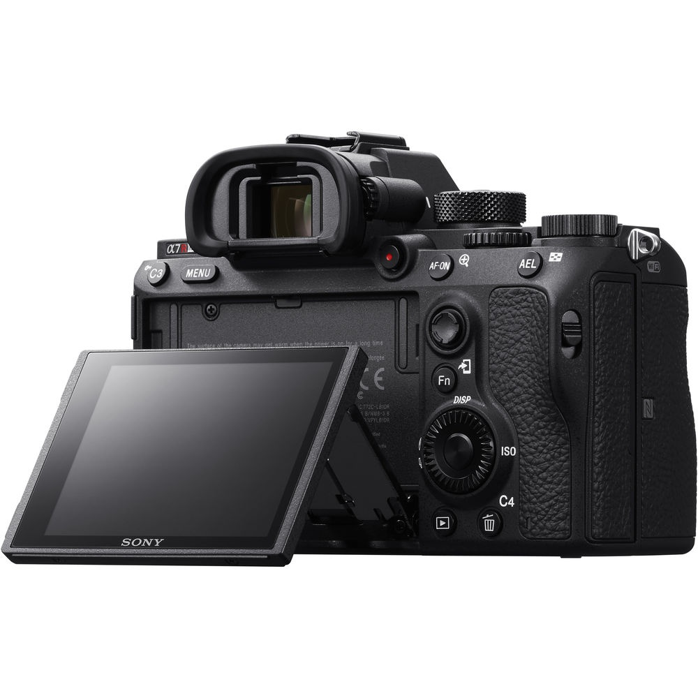 The tilting LCD panel of the Sony A7R III is touch-enabled.