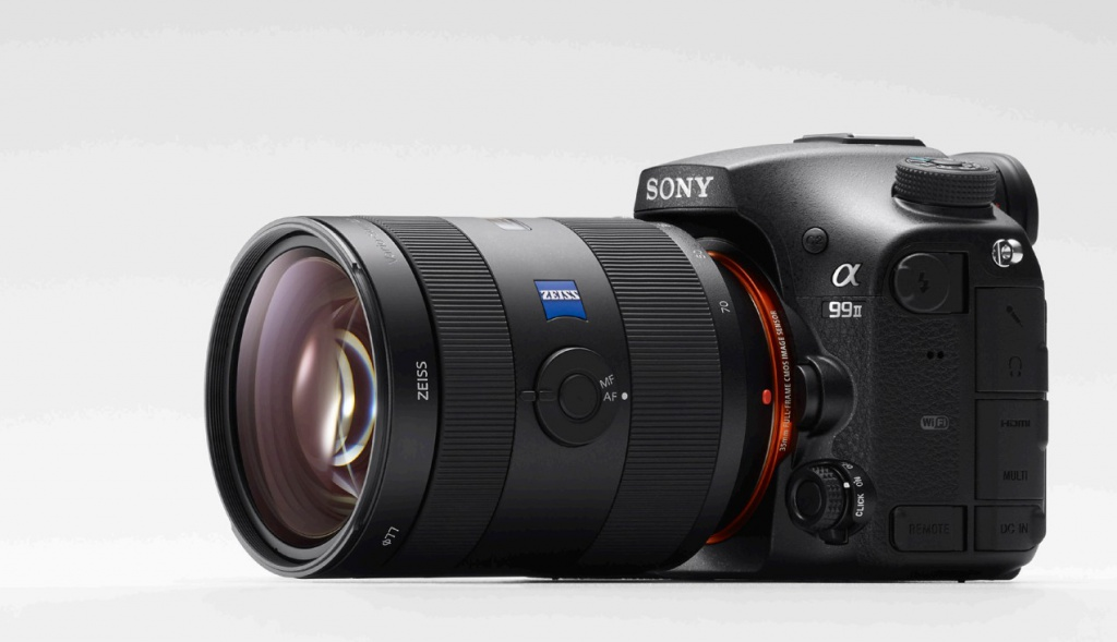The Sony A99 II is a full-size DSLR.