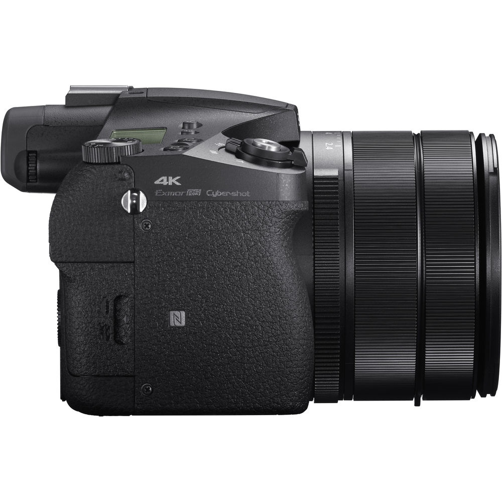 The Sony RX 10 IV has a single slot for either SD or Memory Stick Duo memory cards.