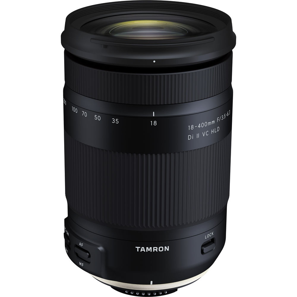 The Tamron f/3.5-6.3 18-400mm Di II VC HLD is a 22.2X zoom lens.