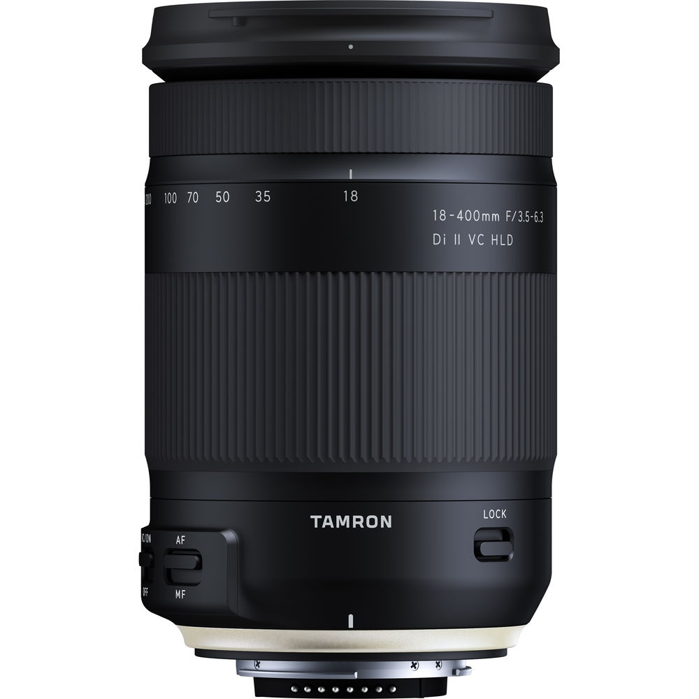 The barrel-mounted controls of the Tamron f/3.5-6.3 18-400mm Di II VC HLD.
