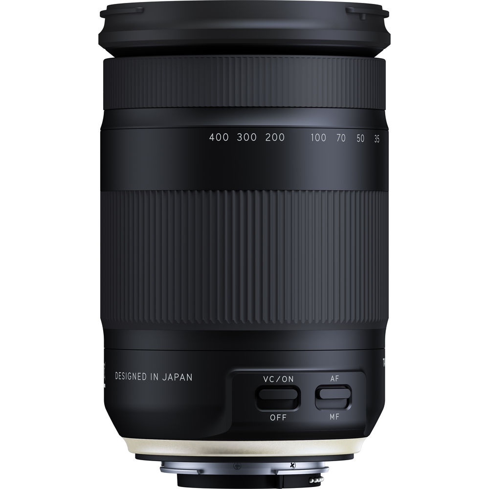 When shooting at its widest setting, the Tamron f/3.5-6.3 18-400mm Di II VC HLD is less than five inches long.