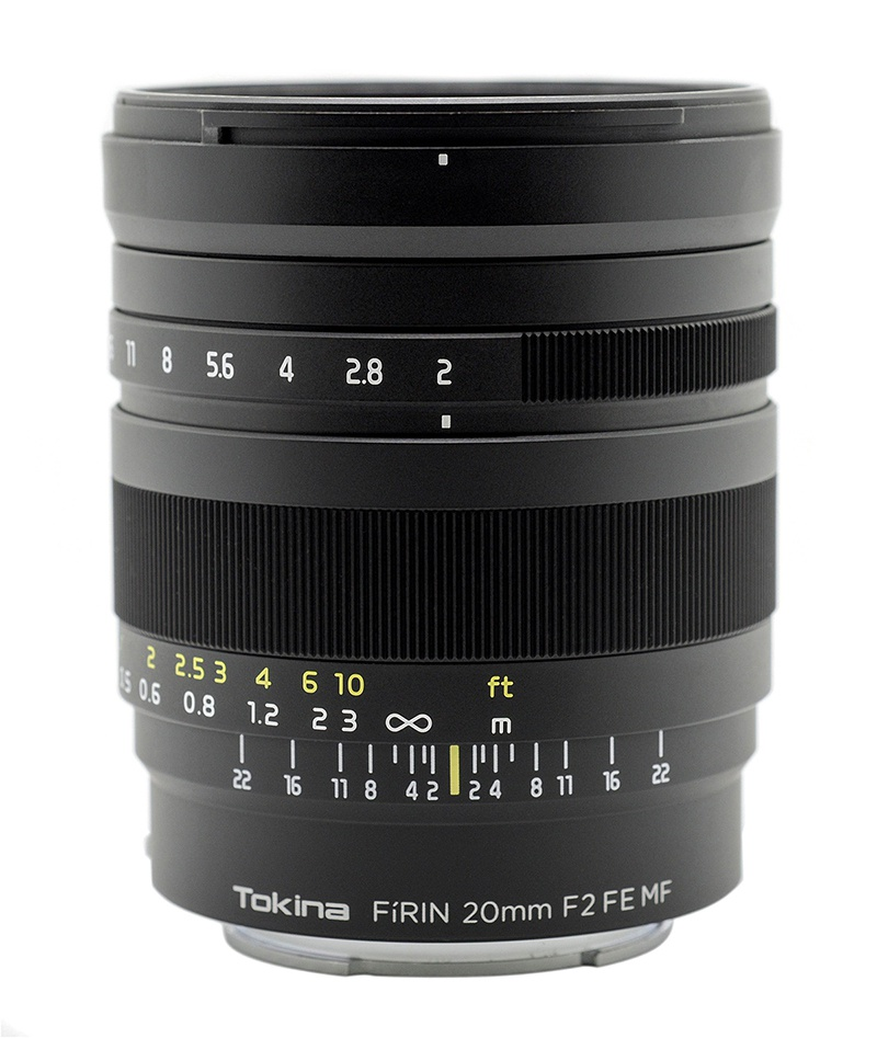 The Tokina FiRIN f/2.0 20mm is a manual-focus lens.
