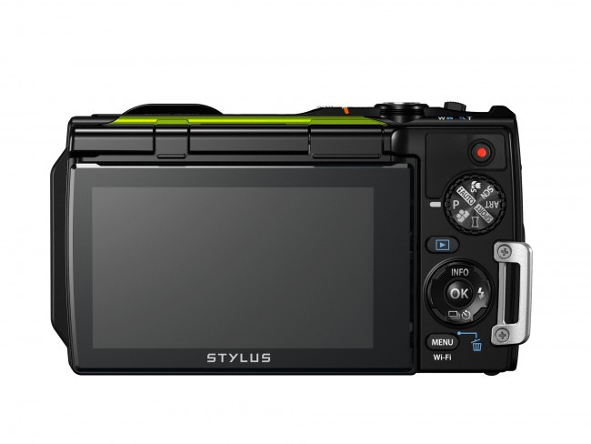 The rear controls and LCD of the Olympus Tough TG-870.