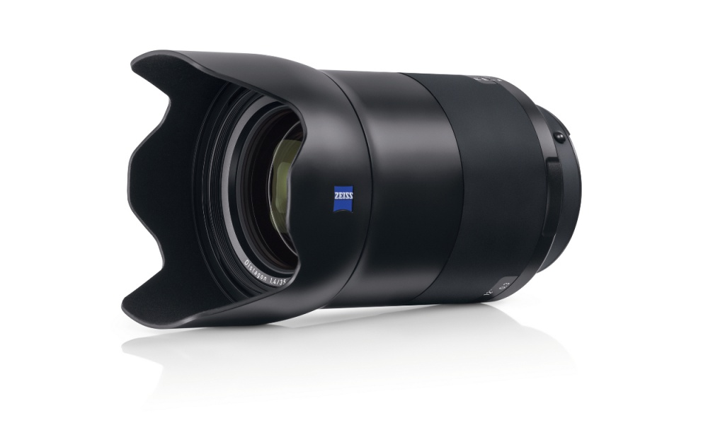 The Zeiss Milvus f/1.4 35mm with its petal-shaped lens shade.