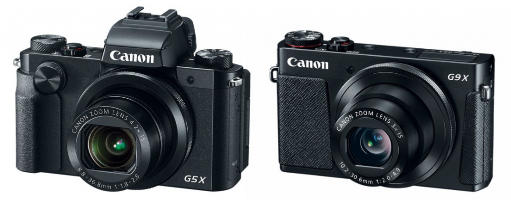 Canon PowerShot G5X and G9X