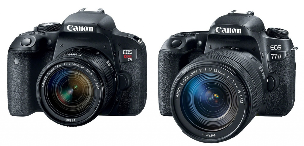 Canon EOS Rebel T7i and EOS 77D