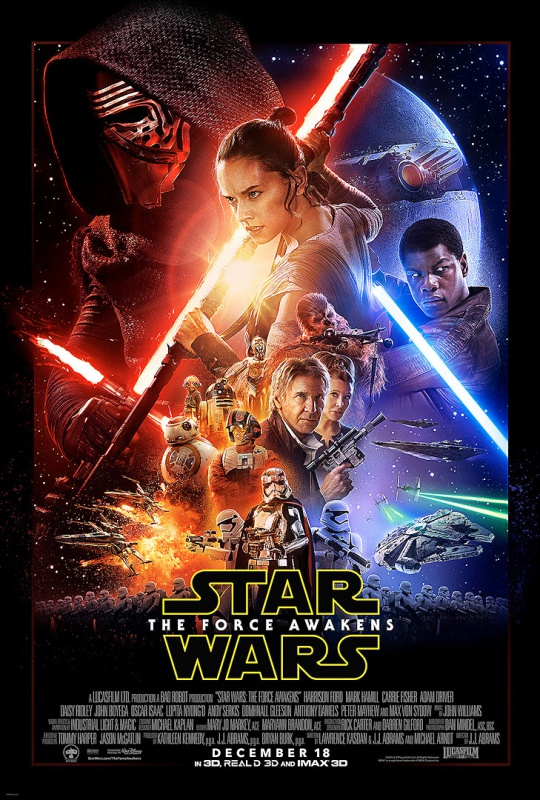 The poster for Star Wars: Episode VII - The Force Awakens