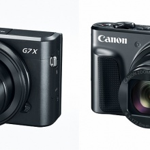 Canon PowerShot G7 X Mark II, left, and SX720 HS