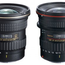 Tokina's 11-20mm and 11-16mm wide-angle zoom lenses.