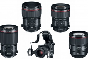 Canon lenses, macro light setup